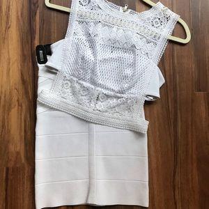 Bebe Crop and skirt set